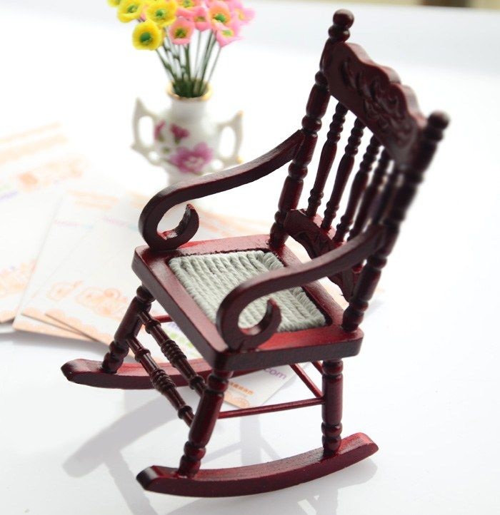 Miniature Red Rocking Chair ~ Best mini pots and planters images on pinterest