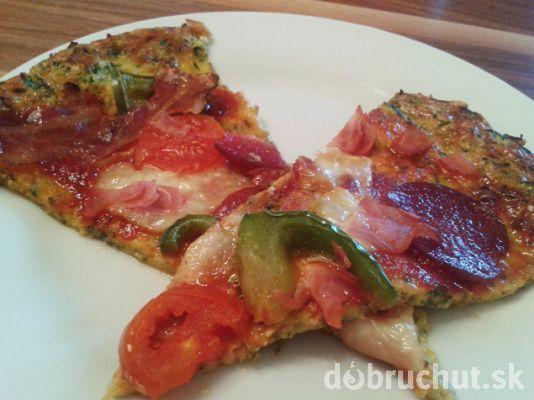 Cuketová fitness pizza