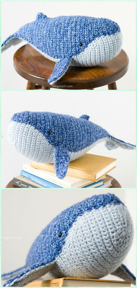 Crochet Humpback Whale Free Pattern - Amigurumi Crochet Sea Creature Animal Toy Free Patterns