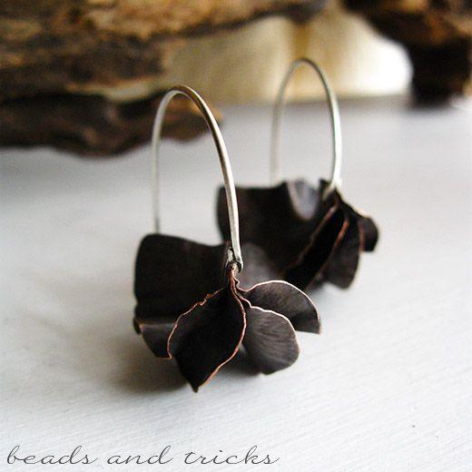 Beads and Tricks - Orecchini a foldforming in rame e argento