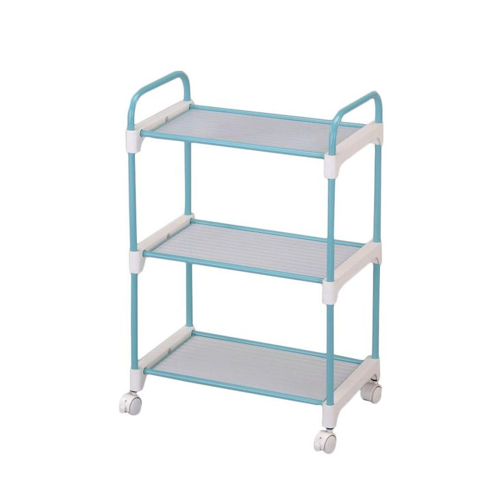 this functional 3tier utility cart is constructed out of durable plastic and stainless steel