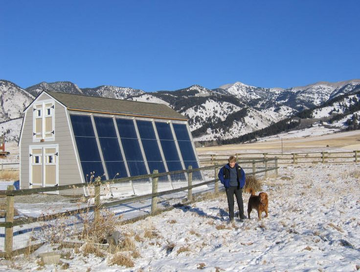 The Solar Shed Using Solar Collectors Mounted on an