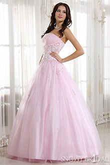 Light pink wedding dress my style pinterest wedding for Light pink wedding guest dress