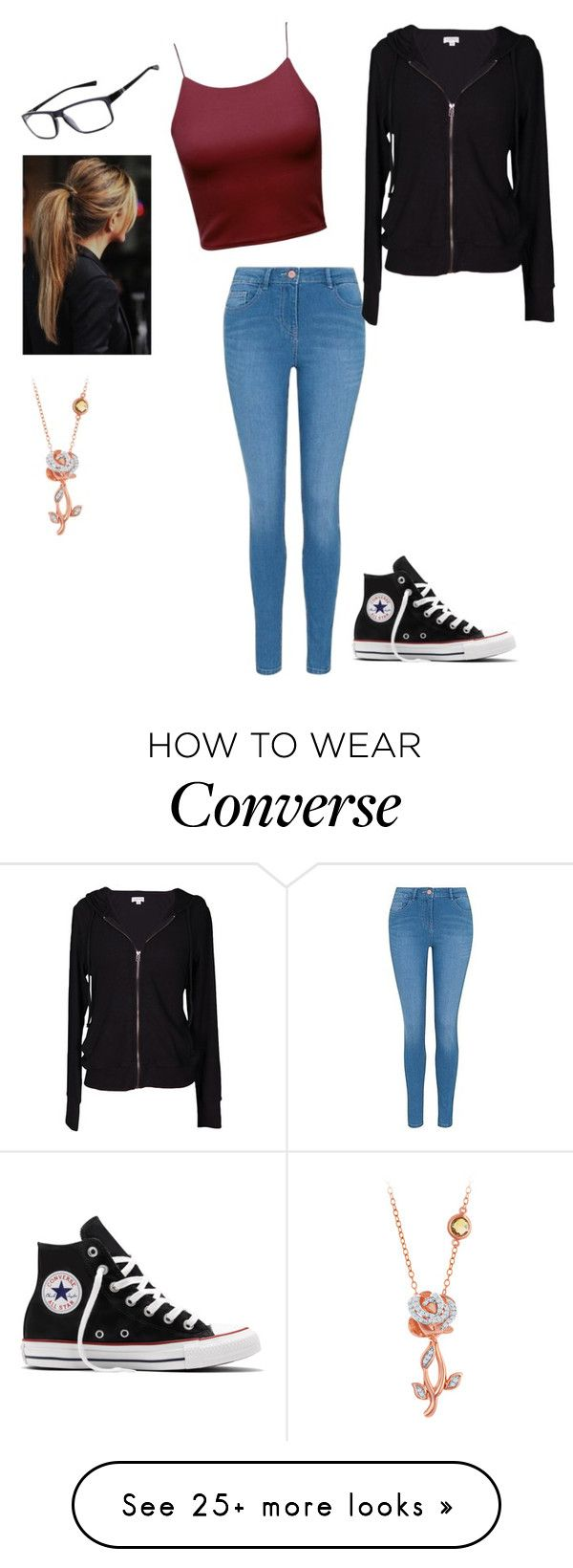 """""""Ellie"""" by crystalrose-014 on Polyvore featuring George, Velvet by Graham & Spencer, Converse, NIKE and Disney"""