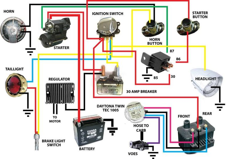bad554af72131b445388a9f69edbe923 Harley Flh Headlight Relay Wiring Diagram on