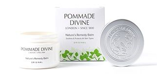 Pomade DivineHydrating, soothing and deeply nourishing Pommade Divine Multi-Purpose Skin Balm has been created for sensitive skin.It is suitable even for young children and babies. A rich and fast absorbing texture especially formulated to bring immediate comfort and lasting hydration. It soothes itchy, dry irritated and damaged skin, relieves long standing skin conditions, repairs skin after minor skin care injuries, protects skin from bacteria and reduces the likelihood of scarring.