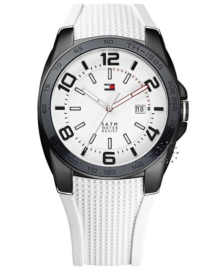 Tommy Hilfiger White Dial White Rubber Strap Τιμή: 127€ http://www.oroloi.gr/product_info.php?products_id=32400