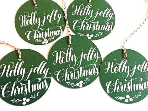 Calligraphy Christmas gift tags by Anchor Port Calligraphy