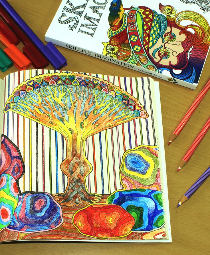 34 best Skillful Imagination: Adult Coloring Book + notebook images ...