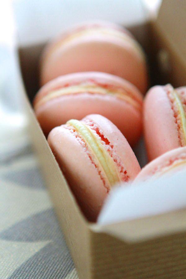Pink Lemonade French Macarons - Laurens Latest