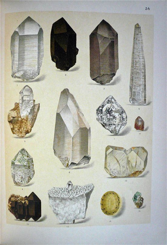 Brauns, Reinhard Anton (1912) - wonderful realist drawings of crystals