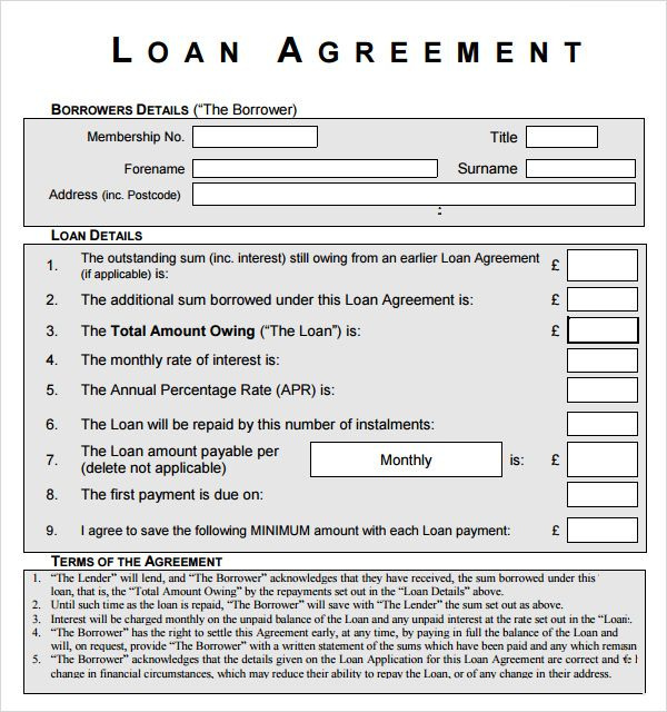 printable business loan agreement and form template News to Gow