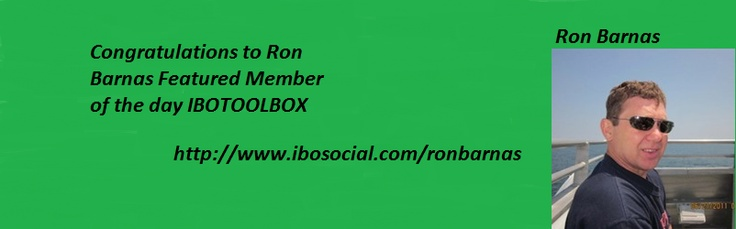 Congratulations Ron Finding ways to help others  http://www.ibosocial.com/ronbarnas