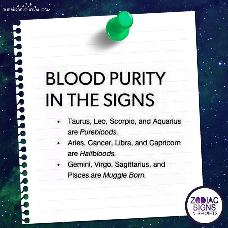 Blood Purity In The Signs - https://themindsjournal.com/blood-purity-signs/