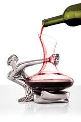 The most unusual wine decanter we've ever seen. A conversation starter and piece of art too. http://www.artathome.com.au/collections/bar/products/glass-decanter-set-on-the-brink-1