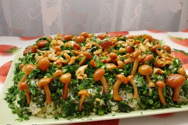 Популярные салаты на день рождения