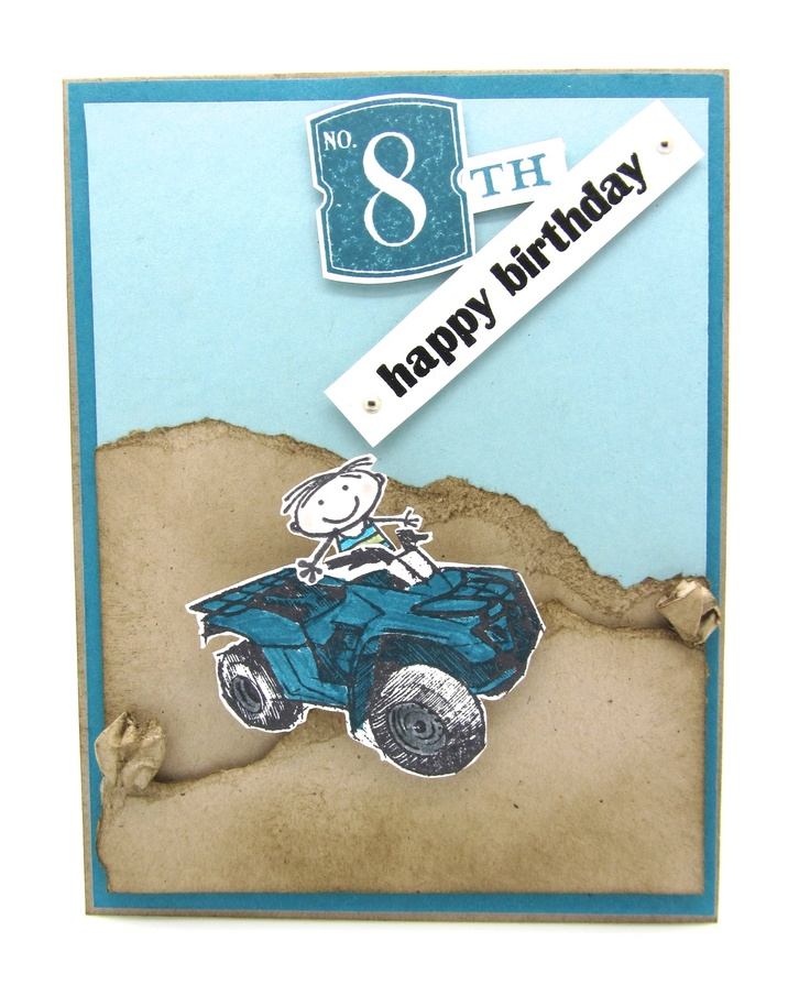 A boy birthday card using Stampin' Up! Need for Speed stamp set and a wobbler for some movement.