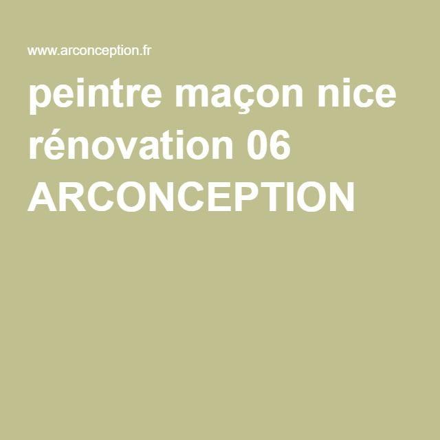 peintre maçon nice rénovation 06 ARCONCEPTION