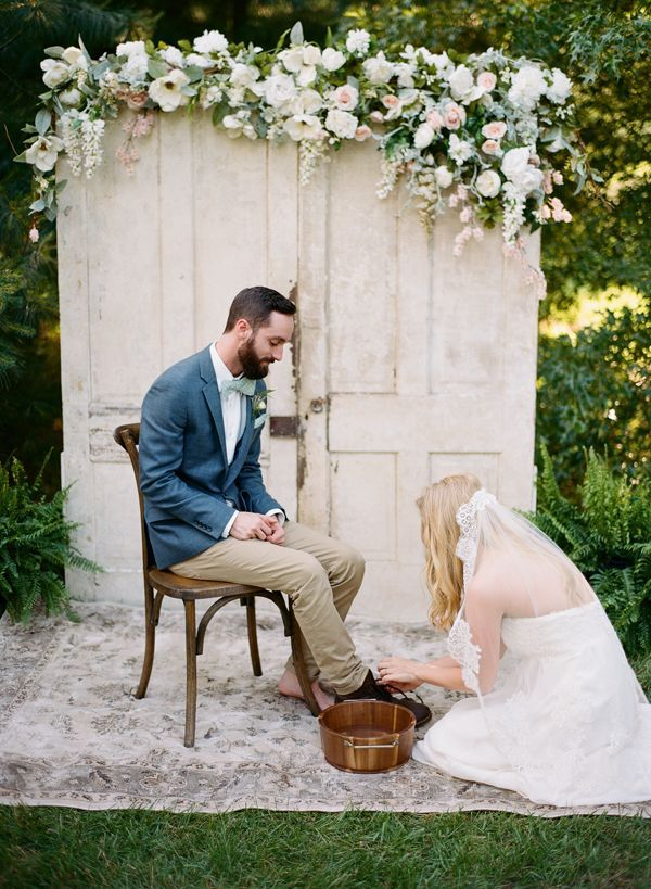 Foot Washing Ceremony Bella Grace Studios Fun Wedding Photography Farm Wedding Wedding