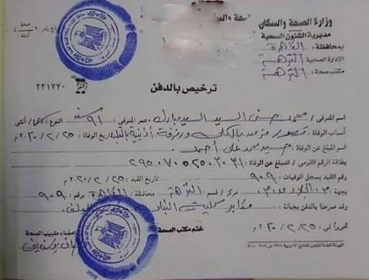 شاهد تصريح دفن محمد حسني مبارك من وزارة الصحة Social Security Card Person Blog Posts