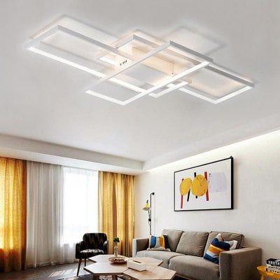 Modern White LED Flush Mount Ceiling Light Square Combination Shape for  Living Dining Room Bedroom