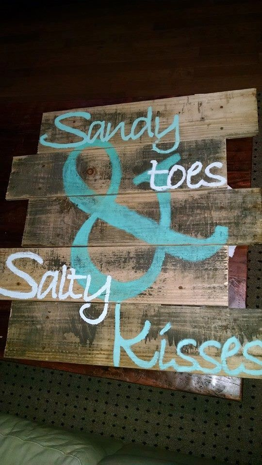 Sandy Toes and Salty Kisses by GrayDesigns34 on Etsy https://www.etsy.com/listing/222942282/sandy-toes-and-salty-kisses