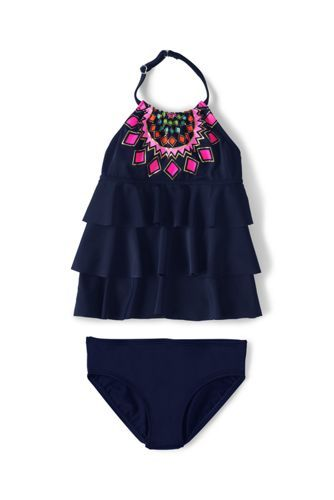 Girls+Tiered+Tankini+Swimsuit+Set+from+Lands'+End