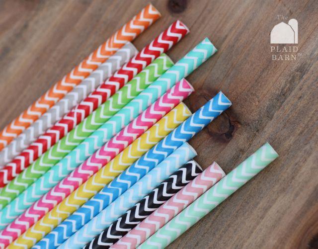 Chevron paper straws ❤