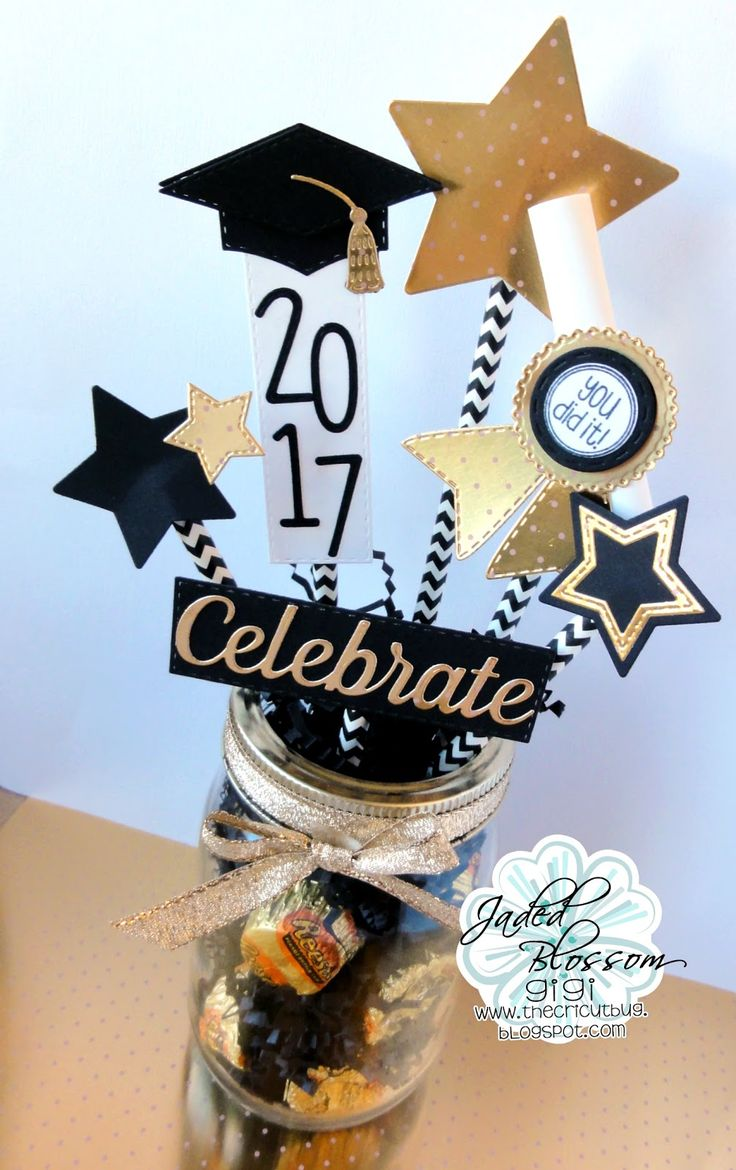 Hi everyone! This is GiGi from The Cricut Bug  and I am sharing this Graduation Centerpiece I made using all Jaded Blossom Dies.           ...