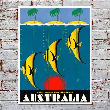 Atlas Travel Arts: Bright Retro Tourism Prints