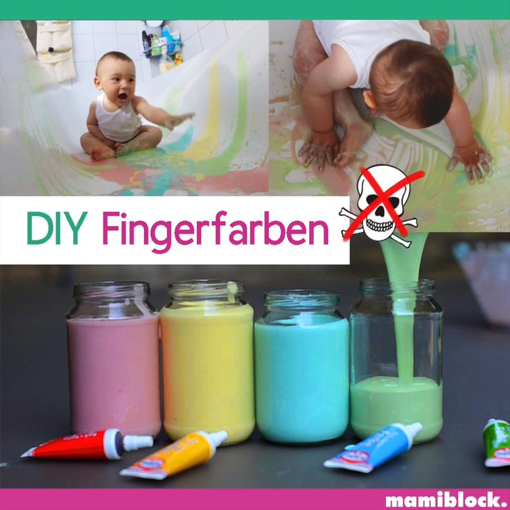 DIY Fingerfarbe | Essbar 😋| mamiblock