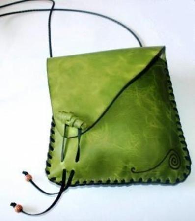 Inspiration , bolso de cuero hecho a mano ref. 975 cuero artesanal
