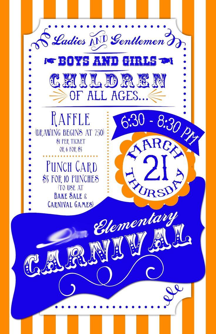 elementary school carnival flyer