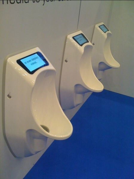 Urinals using digital signage create buzz at #ScreenMediaExpo 2012