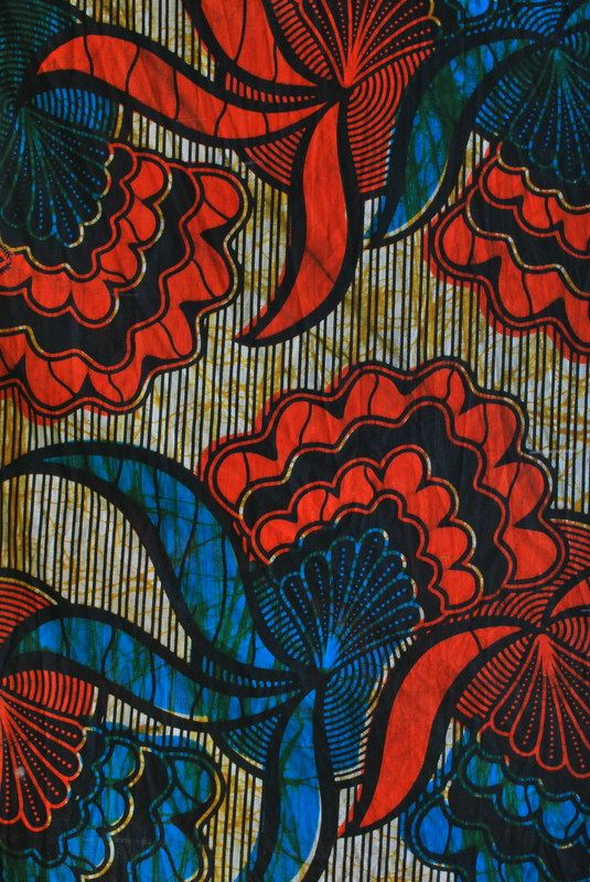 African print fabric from Kampala Fair