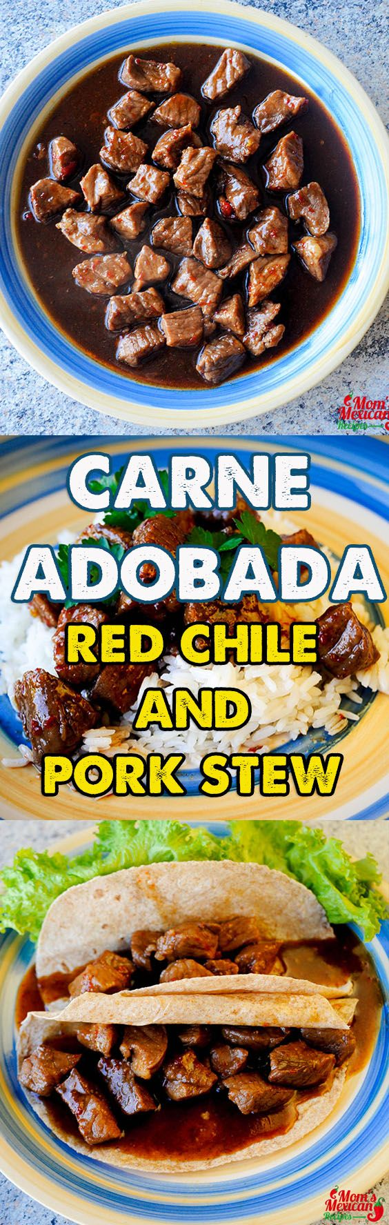 Red Chile and Pork Stew or Carne Adobada Recipe is a favorite in New Mexico. It is a well-blended pork recipe that has a very strong taste and no one can refrain from eating it.
