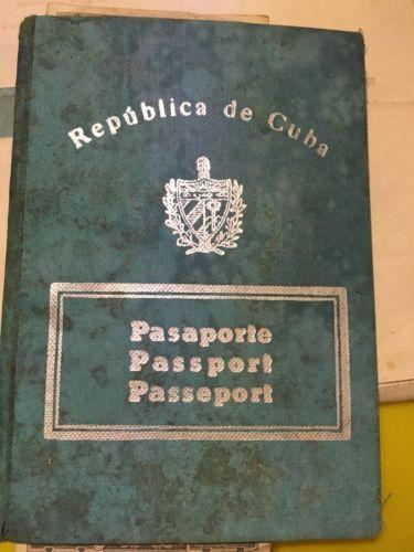 VTG-EXPIRED-PASSPORT-PASAPORTE-CUBANO-VISAS-FULL-ARTISTA-CUBANO-RARE-OBSOLETE