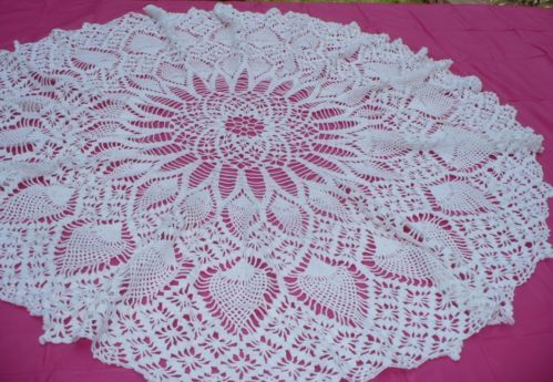 Famous Free Round Crochet Tablecloth Patterns Motif Knitting