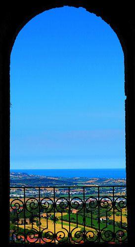 Italy, Marche, Recanati -balcony #3, Adriatic Sea- by Gianni Del Bufalo