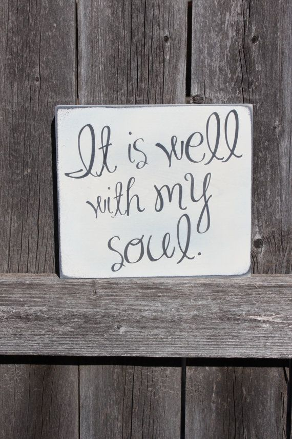It is Well Sign Hymn Home Decor