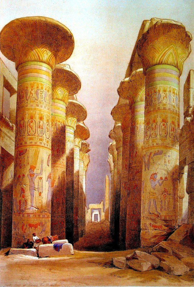 Temple Karnak - The great hall of columns