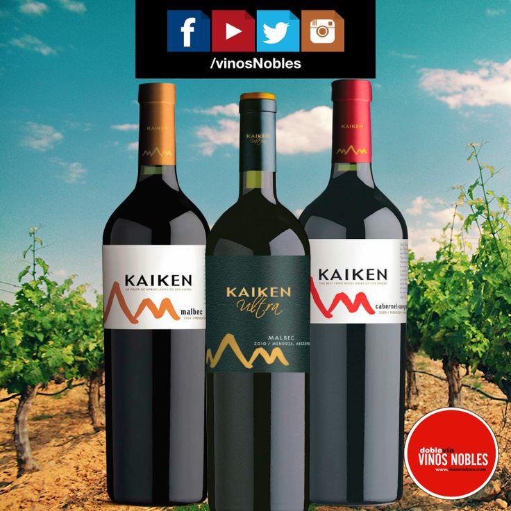 Te invitamos a seguirnos en nuestras redes sociales, allí podrás encontrar toda la información sobre los viñedos de nuestras marcas premium, tiendas y servicios. #VinosNobles #wines @KaikenWines