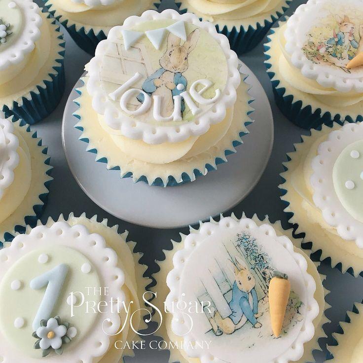 Beatrix Potter Peter Rabbit baby cupcakes