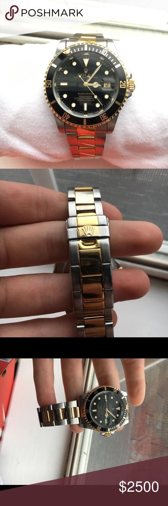 Rolex Oyster Perpetual Used Rolex given to me through my grandfathers will. 100% authentic as seen in the pictures, also with the serial number.  No major flaws, only vaguely noticeable wear from usage over time. PRICE IS NEGOTIABLE! Rolex Accessories Watches