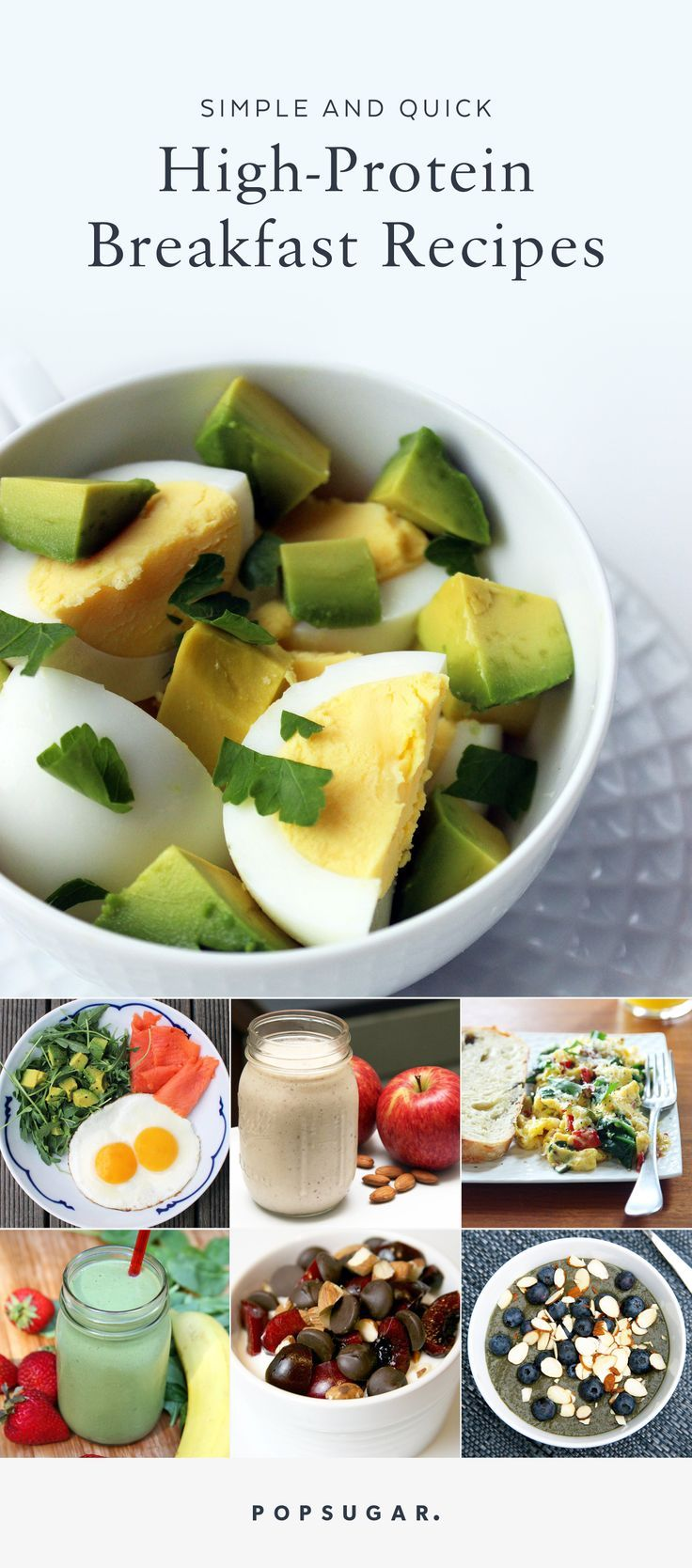 A healthy, high-protein meal can still be made on even the craziest of days. These 21 meals all contain at least 15 grams of protein and take well under 10 minutes to prep. #Breakfast #healthy