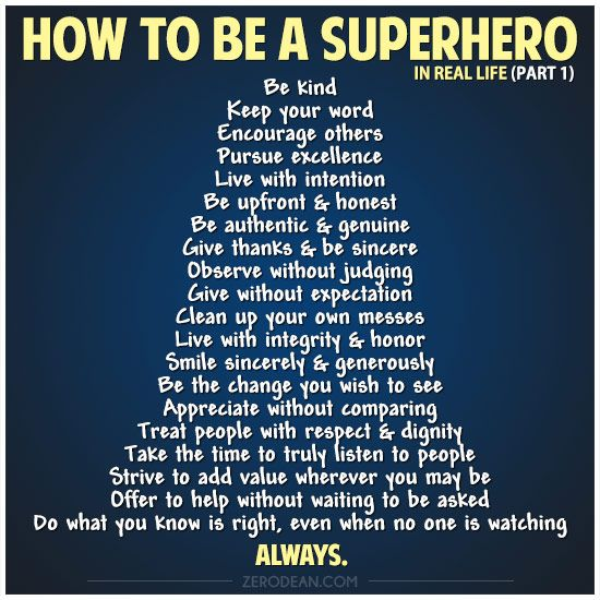 How To Be A Superhero In Real Life (part 1) By Zero Dean