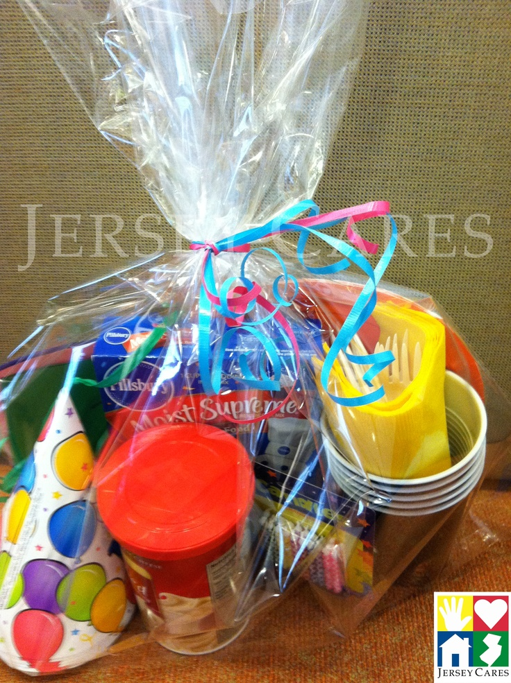 Create Birthday in a Bag kits for a local children's shelter to offset the cost of birthday parties for their kids.