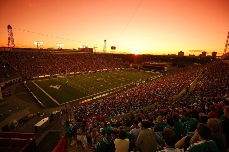 McMahon Stadium at sunset