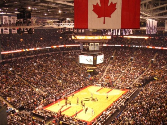 Toronto Raptors Basketball Game: Head to Toronto's famous Air Canada Center and catch the Raptors play a live game. Tickets are cheap, and the entertainment is priceless! For game dates and tickets visit: http://www.nba.com/raptors/schedule/    TIP: Enjoy Toronto's famous 'Street-Meat' a.k.a. Hot Dog from the street before entering the game