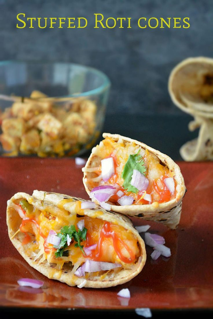 Paneer filled Roti Cones – Ruchi's Kitchen